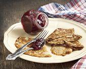 Crepes With Raspberry Jam