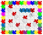 4 Jigsaw Drop-down Puzzle 2013- 2014 - Your Text
