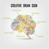 image of left brain  - Creative Brain Symbol - JPG