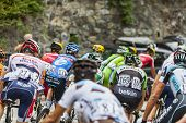 The Peloton On Alpe D'huez