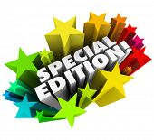 Special Edition words stars fireworks advertise limited collectors