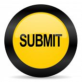 submit black yellow web icon