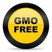 gmo free black yellow web icon