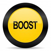 boost black yellow web icon