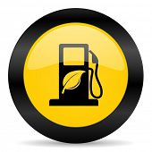 biofuel black yellow web icon