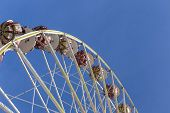 People Enjoy The Big Wheel At The 24Th Barbarossamarkt Festival