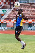 Sisaket Thailand-may 24: Etoundi Pie Claude Of Sisaket Utd. In Action During A Training Ahead The Re