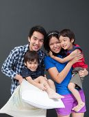Happy Family Together With Smile