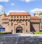 Krakow Barbican - Medieval Fortifcation At City Walls, Poland