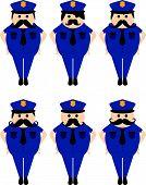 police officer avatar portrait set