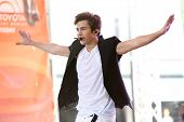 NEW YORK-MAY 26: Recording artist Austin Mahone performs on the Toyota Concert Series on NBC's Today