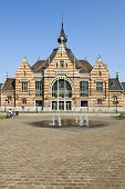 Brussels, Belgium - July 07, 2013:  The Entrance Of The Schaerbeek Train Station, In Carrefour De L'