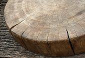 Wood Cutting Board On Wooden