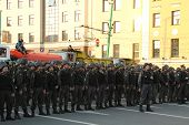 a Police cordon on shares of Russian opposition for fair elections, may 6, 2012, Bolotnaya square