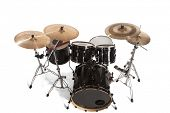 image of drum-kit  - Bass Drum Kit isolated over white background - JPG