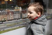 Kid Looking At Toy City