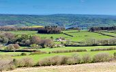 picture of west village  - View from Black Down Mendip Hills Somerset England UK towards Blagdon lake and Chew Valley - JPG