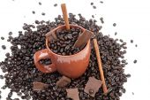 Coffee Mug With Beans