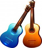 The view of acoustic guitar