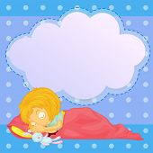 Illustration of a young girl sleeping with an empty callout