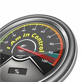 I Am In Control Conceptual Meter Indicate Hundred Percent