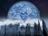 Alien Planet fantasy space scene