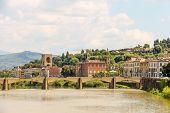 Bridge Over The River Arno Ponte Alle Grazie, Florence, Italy