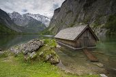 Wooden Fisher Hut In Alps
