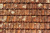 Old Brown Shingles On The Roof