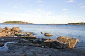 Постер, плакат: Coast and coastline at UNESCO High Coast Heritage Sweden