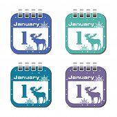 January one calendar sheets