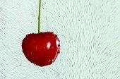 Cherry On Glass