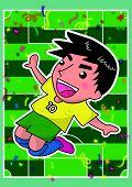 cartoon soccer player or sport man