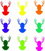set of stags