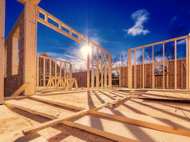 stock photo of 2x4  - New construction of a house - JPG