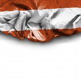 Austria waving flag on white background