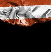 Austria waving flag on black background