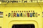 RECIFE, BRAZIL - CIRCA JAN 2014: Pernambuco Restaurant at the historical center of the old Recife, Brazil.