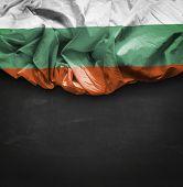 Bulgaria waving flag on blackboard