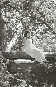 Beautiful Pregnant Woman In Fairy Forest