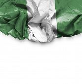 Nigeria waving flag on white background