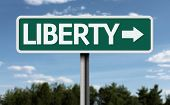 Liberty creative sign