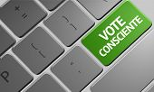 Conscience Vote (Portuguese: Vote Consciente) the keyboard