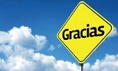 Thank You (Spanish: Gracias) creative Sign