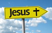 image of jesus sign  - Jesus creative sign on a beautiful day - JPG
