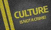 Culture is not a Crime! written on the road