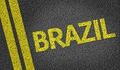 Brazil written on the road