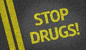 Stop Drugs written on the road