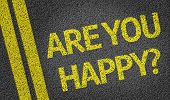 Are you Happy? written on the road
