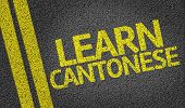 Learn Cantonese written on the road